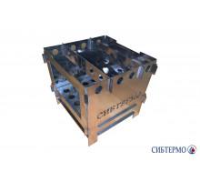 Печь Сибтермо щепочница из нержавеющей стали