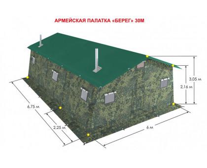 Армейская палатка Берег-30М2 двухслойная