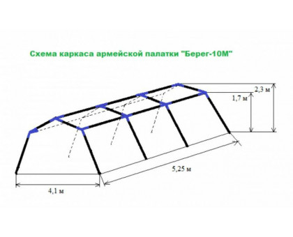 Армейская палатка Берег-10М1