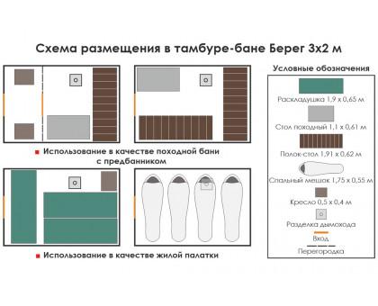Походная баня Берег ПБ-2